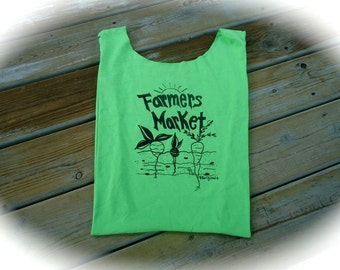 Repurposed t-shirt Bag,Farmers Market