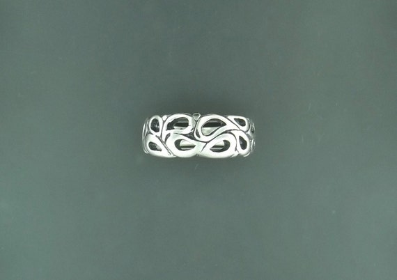 1950's Style Wedding Bands in Sterling Silver