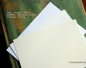 """50 sheets cardstock: 8.5x11 card stock, recycled, eco-friendly 8 1/2"""" x 11"""" (216 x 279mm), bright white, natural white, ivory, 80lb or 110lb"""