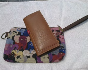 Cotton bag made from woven fabric, patterns, native.