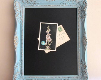 Blue Wedding Sign Framed CHALKBOARD Turquoise Teal Bar Menu Kitchen Photo Booth Prop Vintage Magnetic Chalk Board w/ EASEL - MoRE CoLORS
