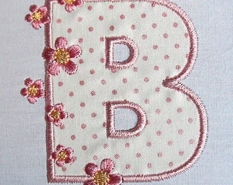Applique Cherry blossom Alphabet machine embroidery patterns - pes, sew, xxx, pec, vip, vp3, dst, hus, jef, exp