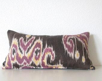 8x16 Marreskesh Ikat Dusk - Purple Ikat Mini Lumbar - Pillow Cover