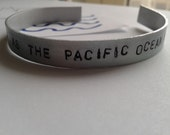 At Least As Deep As The Pacific Ocean I Wanna Be Yours - Arctic Monkeys - Handstamped Bracalet in Alluminium