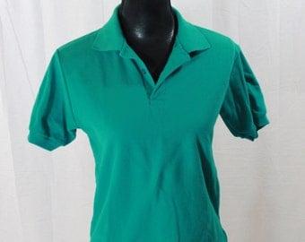 SALE ITEM Vintage 80s Mens Le Tigre polo shirt Teak Polo Shirt