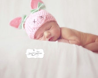 Newborn Piggy Hat