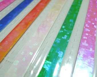 Pearl Patch Spring Maze Origami Lucky Star Paper Strips - flat pack of 50 strips