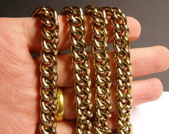Golden bronze chain -  lead free nickel free won't tarnish - 1 meter - 3.3 feet - aluminum chain - NTAC56
