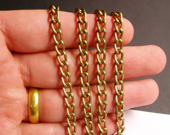 Brass chain - lead free nickel free won't tarnish - 1 meter - 3.3 feet made from aluminum - NTAC49