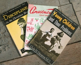 Three Vintage 1960s Christian Social Morality Handbooks Guide Books - Children Family - Instant Collection
