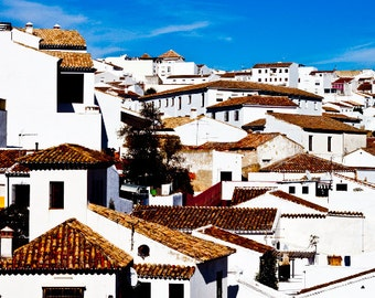 Houses in Ronda, Spain 8x10 Inch Photographic Print