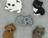 Jesse James Button Dress It Up Kit n Kaboodle Kittens Cats Cute Novelty Kitten Buttons