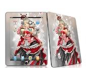 Apple Tablet skin - Queen of Cards
