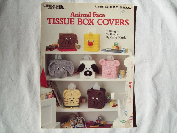 Animal Face Tissue Box Covers Crochet Pattern By