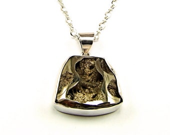 Pyritized Ammonite Sterling Silver Pendant - N745