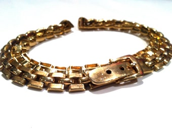 LANVIN Haute Couture Designer Signed Belt Authentic Made in France Golden Snake Linked Chain Runway Accessory Vintage High End Paris Fashion