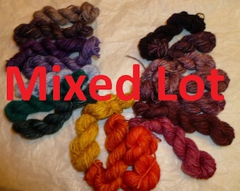Grab Bag Madelinetosh tosh light 10 Mini Sock Skeins in Fingering weight 20 yards 200 yards