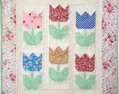 Tiny Tulips Quilt (PDF pattern)