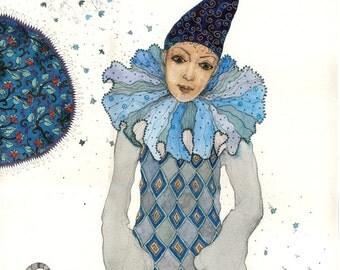 Harlequin - Original Illustration