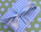 Grey Gingham Premium Wrapping Paper