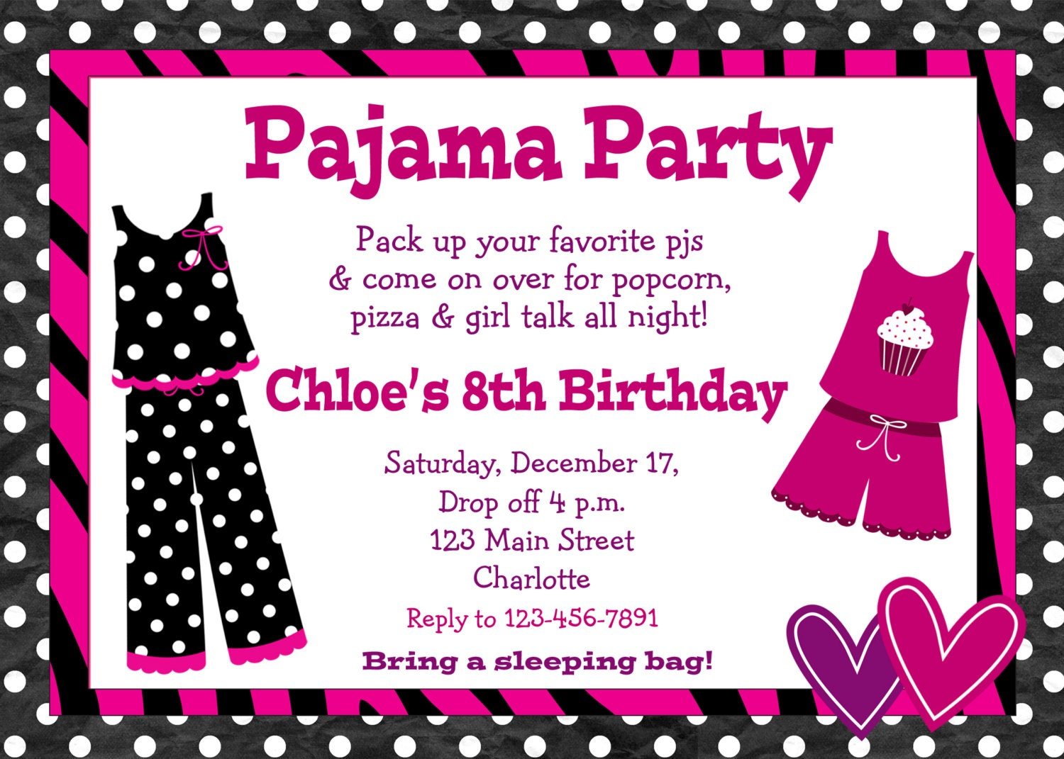 Pyjama Party Invites for amazing invitation template