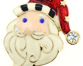 Christmas Santa Claus Pin Christmas Pin Brooch 1000641