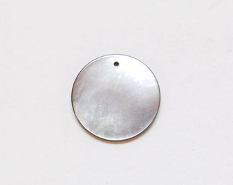 Mother of Pearl Large Disc Charm
