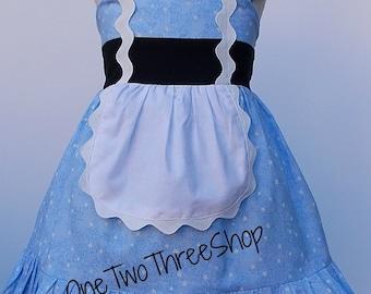 Custom Boutique Clothing  Alice in wonderland Inspired  Sassy Girl Dress
