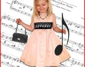 Classic GIRLS DRESS PATTERN  + Free Mother-Daughter Apron Pattern, Symphony Sewing pdf Patterns for Children, Toddler, Tutorial, 5 berries
