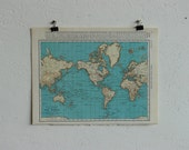 Vintage Map-The World-Early 20th Century