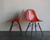 Eames for Herman Miller Dowel Base Side Chair-DSW (Set of 2)