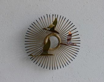 Mid Century Modern Curtis Jere Bird Wall Sculpture/Sconce