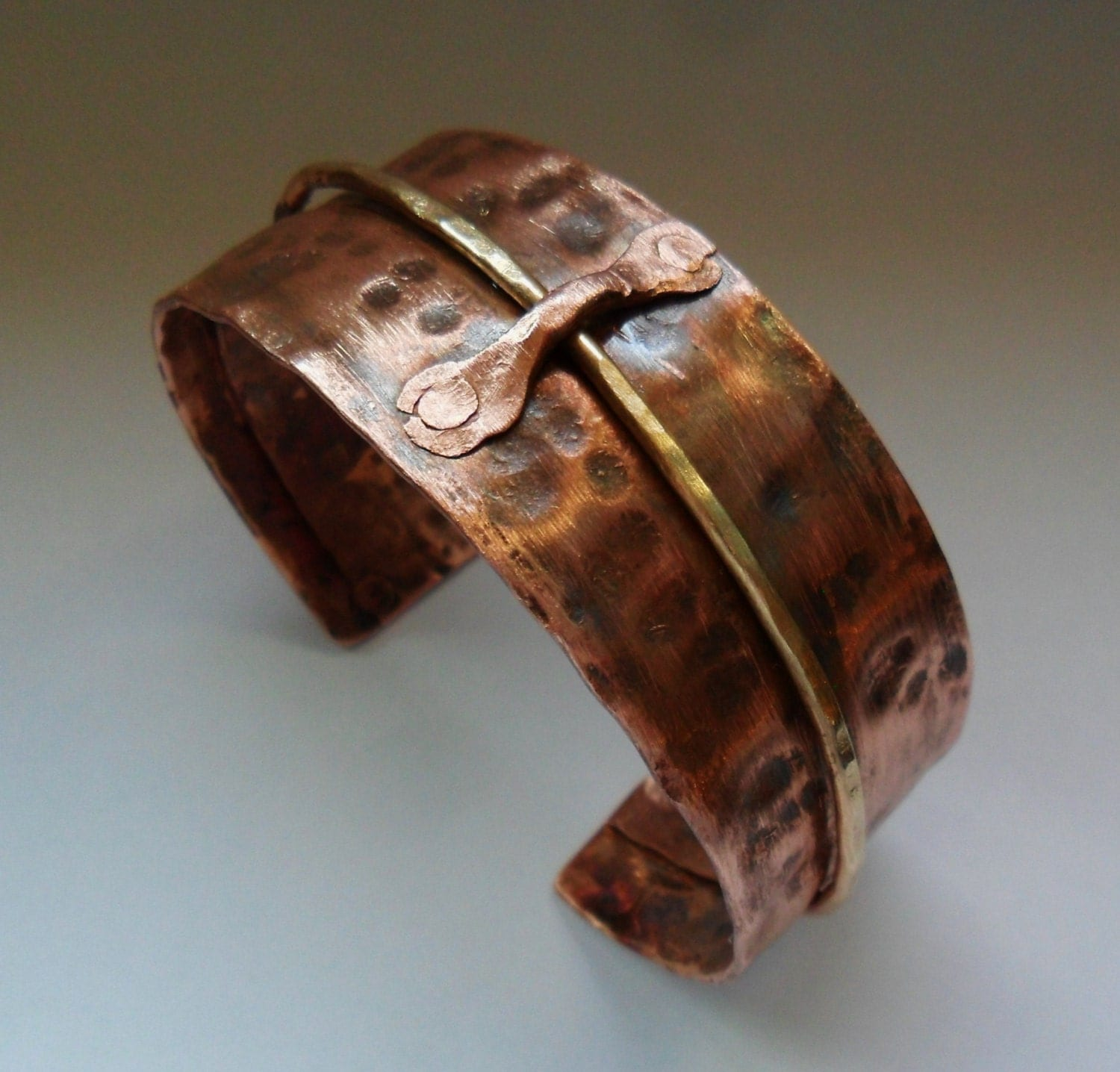 mens hammered copper cuff womens hammered copper by. Black Bedroom Furniture Sets. Home Design Ideas