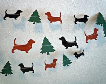 Basset Hound Christmas Paper Garland