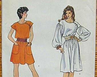 RARE Vintage Misses' Dresses in 2 Lengths Vogue 8348 Sewing Pattern UNCUT Size 12
