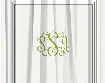 Classic Monogrammed Shower Curtain 70x90