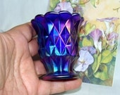 Vintage Aurora Jewel Pattern IMPERIAL Carnival Glass TOOTHPICK Holder