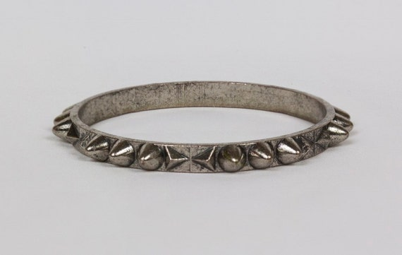 Silver Dog Collar Spike Bracelet Bulldog Collar, Gift under 10