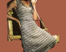 Vintage Crochet Dress Pattern PDF 630 from WonkyZebra