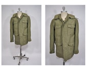 M65 vintage military army field jacket coat small long TAXI DRIVER vietnam era dated 1965 vietnam og 107 sateen