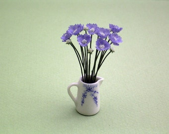 Scabious Flower Kit  for 1/12th scale Dollhouses, Florists and Miniature Gardens