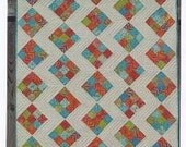 STITCHED Quilt Kit with Backing Fabric by Pat Sloan PS168 Bobbins and Bits Moda Fabrics Crib or Wallhanging Green Orange White