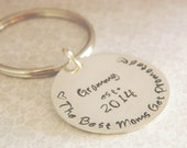Grandma Keychain -- Personalized with Date The Best Moms Get Promoted Christmas Gift, Birthday, Mother's Day, Valentines