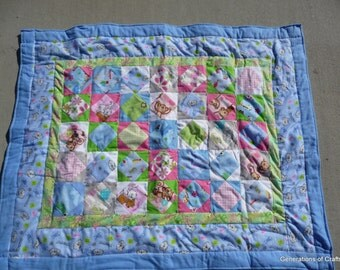 Quilt - Flannel Baby Quilts / Lap Blanket - Cat lovers quilt - Hand Made  * birthday gifts for her