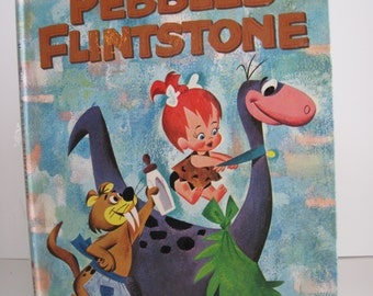 PEBBLES FLINTSTONE - Vintage 1963 BIG Golden Book