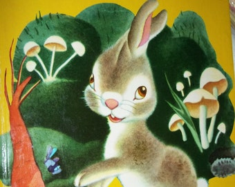 Lively Little Rabbit by Ariane Illustrated by Gustaf Tenggren Little Golden Book 1971 bunny rabbit, storybook, short story, children reading