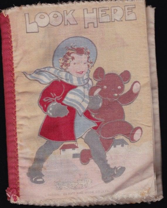 Children S Fabric Book Cover : Antique children cloth book rare victorian by vintagebooklover