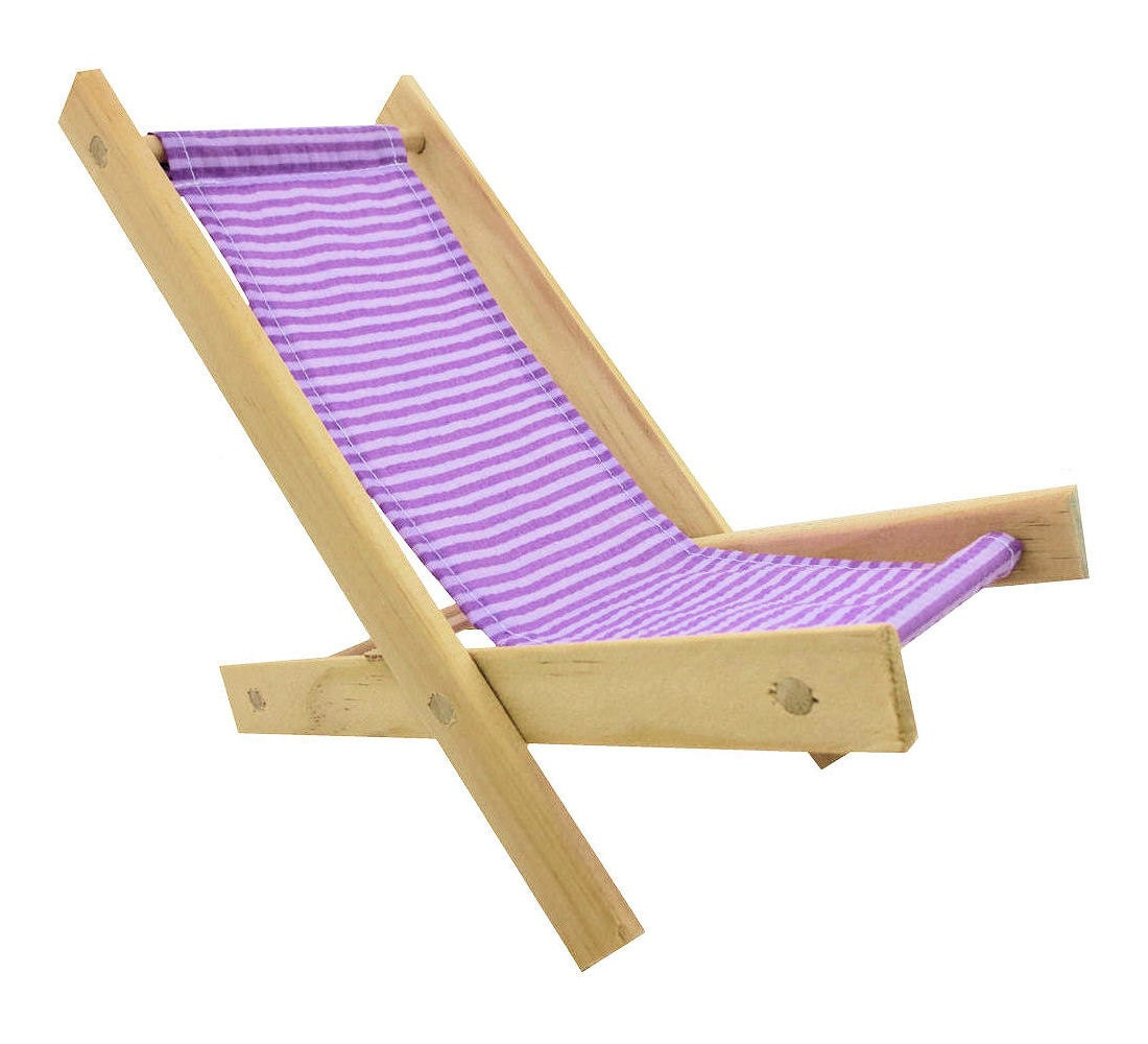 Toy Wooden Folding Beach Chair Lavender By ToyTentsAndChairs