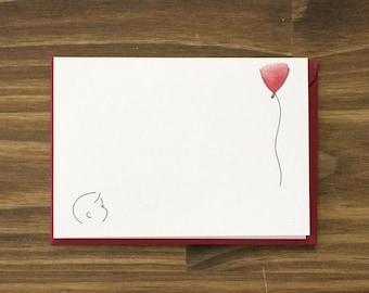 SALE what's up red balloon greeting card