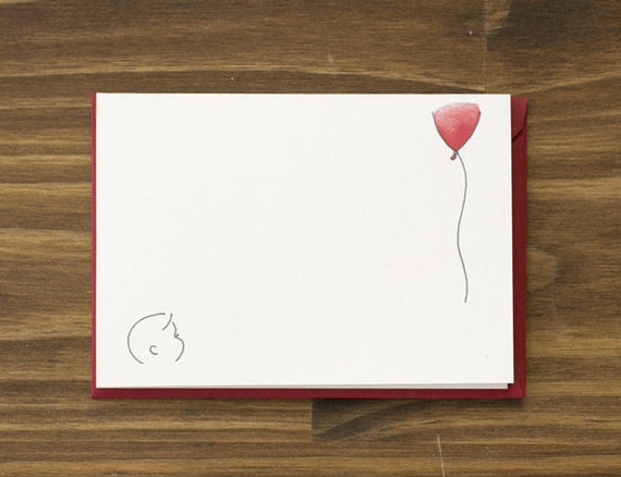 what's up red balloon greeting card